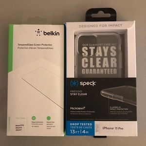 iPhone 11 Pro Speck Case and Screen Protector